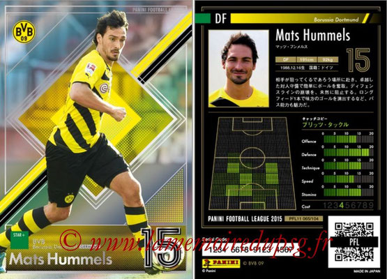 Panini Football League 2015 - PFL11 - N° 065 - Mats HUMMELS (Borussia Dortmund) (Star +)