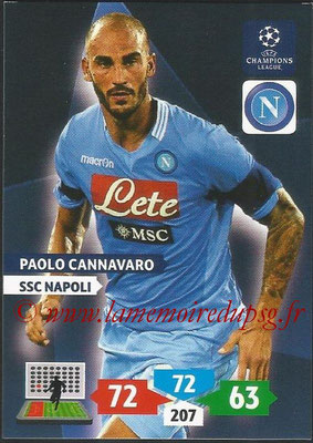 2013-14 - Adrenalyn XL champions League N° 191 - Pablo CANNAVARO (SSC Napoli)