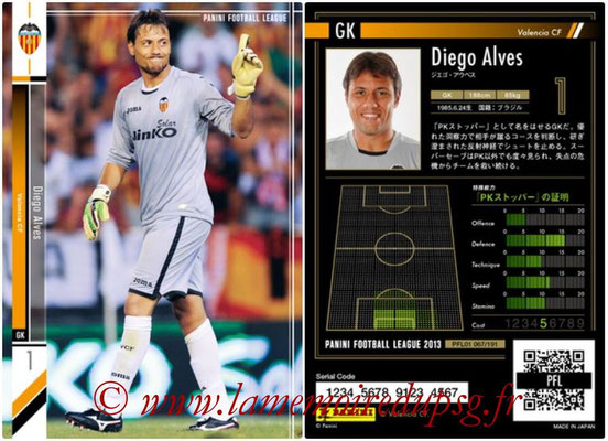 Panini Football League 2013 - PFL01 - N° 067 - Diego Alves ( Valencia CF )