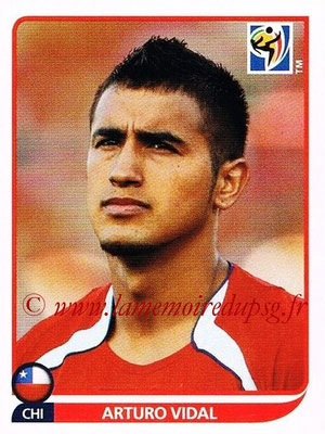2010 - Panini FIFA World Cup South Africa Stickers - N° 625 - Arturo VIDAL (Chili)