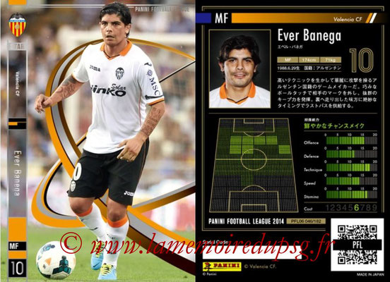 Panini Football League 2014 - PFL06 - N° 046 - Ever BANEGA (FC Valence) (Star)