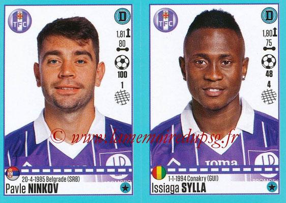 2016-17 - Panini Ligue 1 Stickers - N° 826 + 827 - Pavle NINKOV + Issiaga SYLLA (Toulouse)