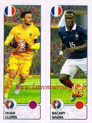 Panini Euro 2016 Stickers - N° 038 - Hugo LLORIS + Bacary SAGNA (France)