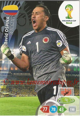 2014 - Panini FIFA World Cup Brazil Adrenalyn XL - N° 077 - David OSPINA (Colombie)