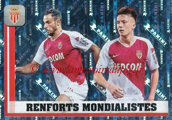 2018-19 - Panini Ligue 1 Stickers - N° 250 - Renforts Mondialistes (Monaco)
