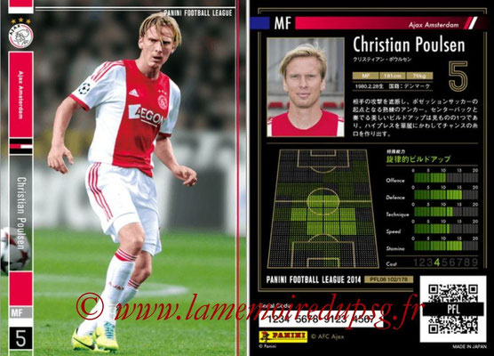 Panini Football League 2014 - PFL08 - N° 102 - Christian POULSEN (Ajax Amsterdam)