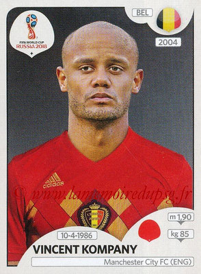 2018 - Panini FIFA World Cup Russia Stickers - N° 518 - Vincent COMPANY (Belgique)