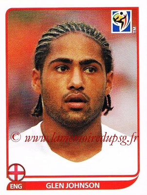 2010 - Panini FIFA World Cup South Africa Stickers - N° 187 - Glen JOHNSON (Angleterre)