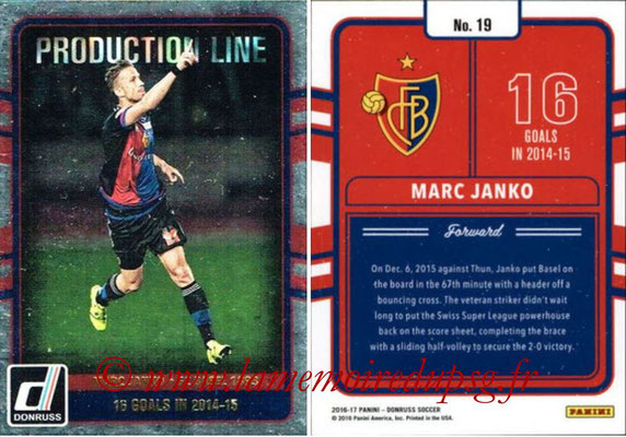 2016 - Panini Donruss Cards - N° PL19 - Marc JANKO (FS Basel 1893) (Production Line)