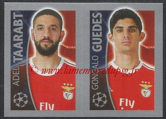 2015-16 - Topps UEFA Champions League Stickers - N° 175 - Adel TAARABT + Gonçalo GUEDES (SL Benfica)