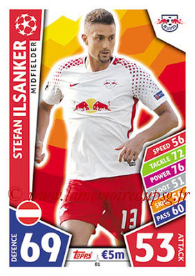 2017-18 - Topps UEFA Champions League Match Attax - N° 081 - Stefan ILSANKER (RB Leipzig)
