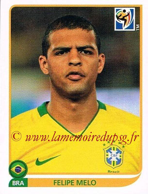 2010 - Panini FIFA World Cup South Africa Stickers - N° 497 - Felipe MELO (Brésil)
