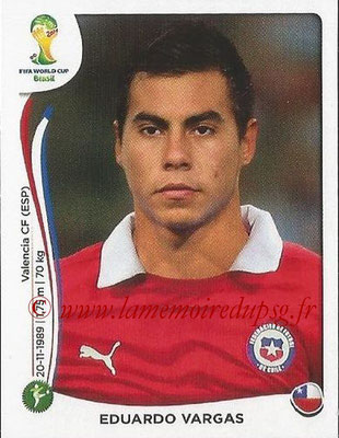 2014 - Panini FIFA World Cup Brazil Stickers - N° 163 - Eduardo VARGAS (Chili)