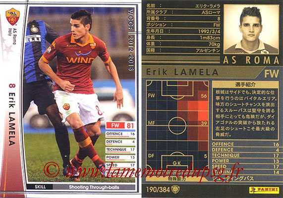2012-13 - WCCF - N° 190 - Erik LAMELA (AS Roma)