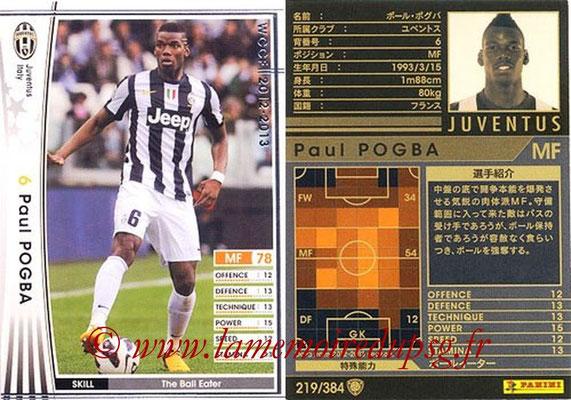 2012-13 - WCCF - N° 219 - Paul POGBA (Juventus FC)