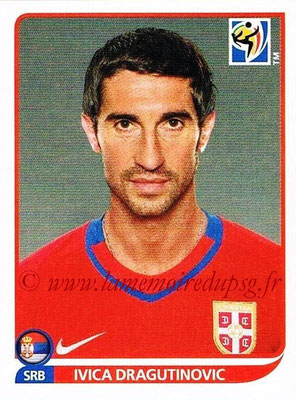 2010 - Panini FIFA World Cup South Africa Stickers - N° 301 - Ivica DRAGUTINOVIC (Serbie)