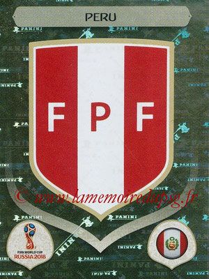 2018 - Panini FIFA World Cup Russia Stickers - N° 232 - Ecusson Perou