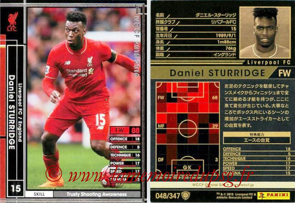 2015-16 - Panini WCCF - N° 048 - Daniel STURRIDGE (Liverpool FC)