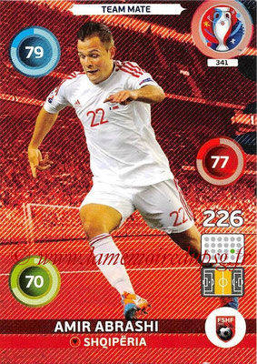 Panini Euro 2016 Cards - N° 341 - Amir ABRASHI (Albanie)