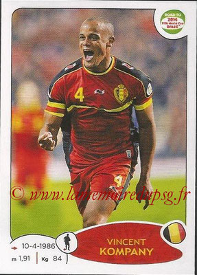 2014 - Panini Road to FIFA World Cup Brazil Stickers - N° 259 - Vincent KOMPANY (Belgique)