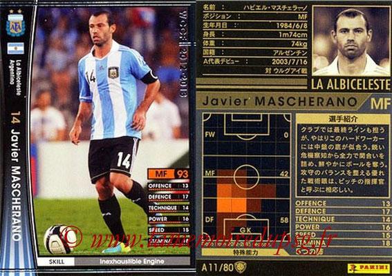 2012-13 - WCCF - N° A11 - Javier MASCHERANO (Argentine)