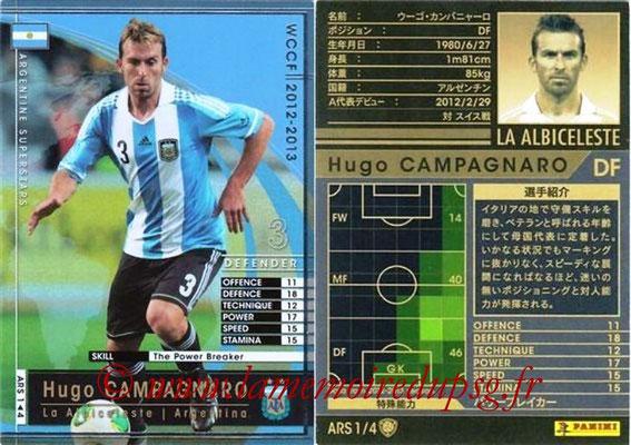 2012-13 - WCCF - N° ARS1 - Hugo CAMPAGNARO (Argentine)