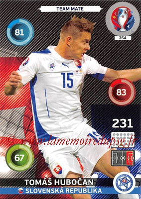 Panini Euro 2016 Cards - N° 354 - Tomas HUBOCAN (Slovenie)