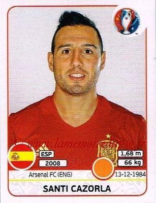 Panini Euro 2016 Stickers - N° 366 - Santi CAZORLA (Espagne)
