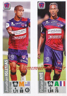 2018-19 - Panini Ligue 1 Stickers - N° 529 - Jonathan IGLESIAS + Florian AYE (Clermont Foot 63)