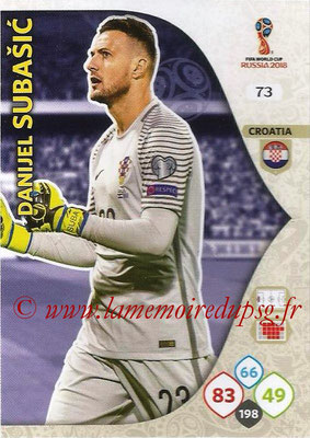 2018 - Panini FIFA World Cup Russia Adrenalyn XL - N° 073 - Danijel SUBASIC (Croatie)