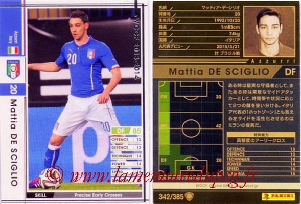 2013-14 - WCCF - N° 342 - Mattia DE SCIGLIO (Italie)