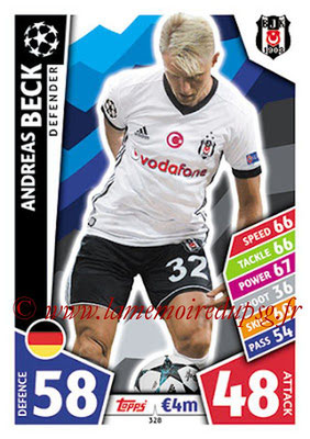 2017-18 - Topps UEFA Champions League Match Attax - N° 328 - Andreas BECK (Besiktas JK)