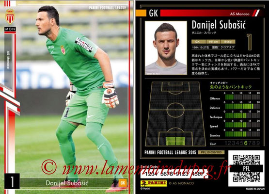 Panini Football League 2015 - PFL10 - N° 059 - Danijel SUBASIC (Monaco)
