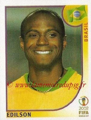 2002 - Panini FIFA World Cup Stickers - N° 186 - EDILSON (Brésil)