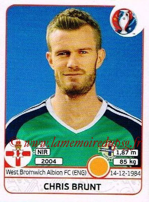 Panini Euro 2016 Stickers - N° 338 - Chris BRUNT (Irlande du Nord)