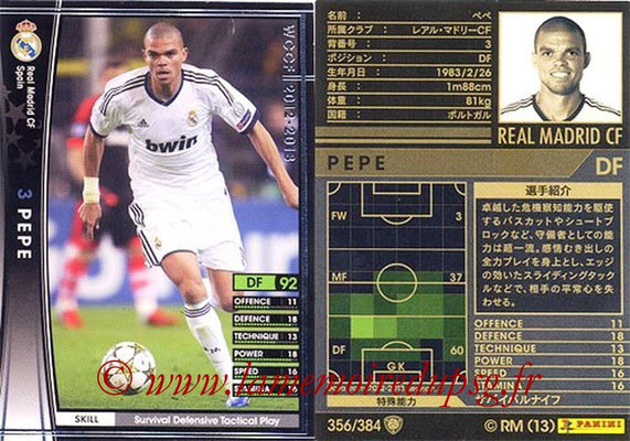 2012-13 - WCCF - N° 356 - PEPE (Real Madrid CF)