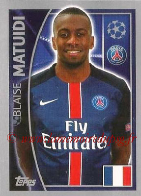 2015-16 - Topps UEFA Champions League Stickers - N° 023 - Blaise MATUIDI (Paris Saint-Germain)