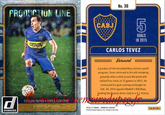 2016 - Panini Donruss Cards - N° PL36 - Carlos TEVEZ (Boca Junior) (Production Line)