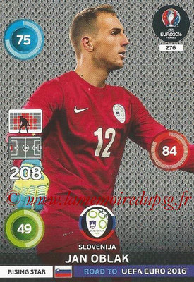 Panini Road to Euro 2016 Cards - N° 276 - Jan OBLAK (Slovénie) (Rising Star)