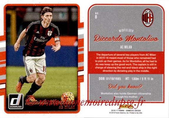 2016 - Panini Donruss Cards - N° 008 - Ricardo MONTOLIVO (Milan AC)