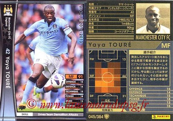 2012-13 - WCCF - N° 045 - Yaya TOURE (Manchester City FC)