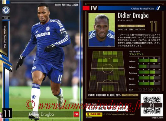 Panini Football League 2015 - PFL13 - N° 055 - Didier DROGBA (Chelsea FC)