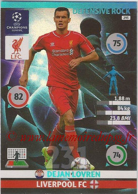 2014-15 - Adrenalyn XL champions League N° 295 - Dejan LOVREN (Liverpool FC) (Defensive Rock)