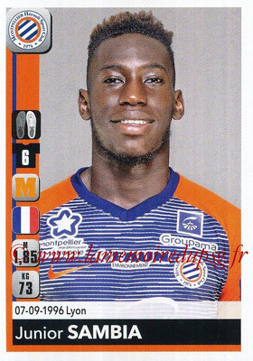 2018-19 - Panini Ligue 1 Stickers - N° 264 - Junior SAMBIA (Montpellier)
