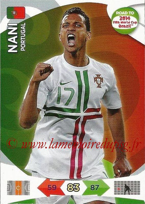 2014 - Panini Road to FIFA World Cup Brazil Adrenalyn XL - N° 154 - NANI (Portugal)