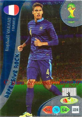 2014 - Panini FIFA World Cup Brazil Adrenalyn XL - N° 371 - Raphael VARANE (France) (Defensive Rock)