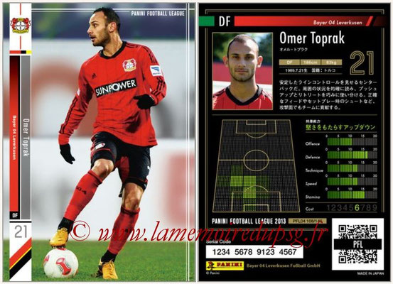 Panini Football League 2013 - PFL04 - N° 108 - Omer TOPRAK (Bayer Leverkusen)