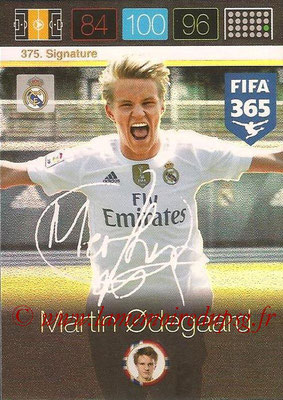 2015-16 - Panini Adrenalyn XL FIFA 365 - N° 375 - Martin ODEGAARD (Real Madrid CF) (Signature)