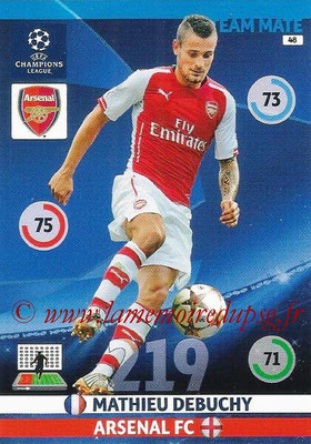 2014-15 - Adrenalyn XL champions League N° 048 - Mathieu DEBUCHY (Arsenal FC)