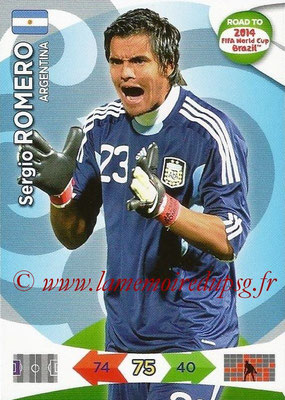 2014 - Panini Road to FIFA World Cup Brazil Adrenalyn XL - N° 001 - Sergio ROMERO (Argentine)
